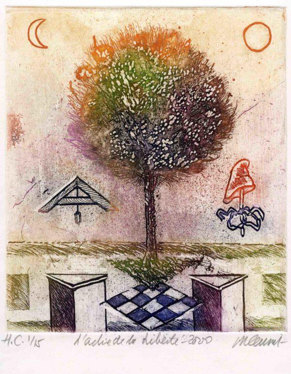 Roger Dewint - L'arbre de la liberté - Gravure
