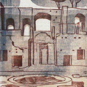 Roger Dewint - Vue de Rome 1 - Gravure