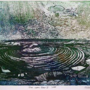 Roger Dewint - Terre sans terre 1 - Gravure