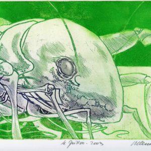 Roger Dewint - Le grillon - Gravure