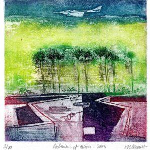 Roger Dewint - Palmiers et avion