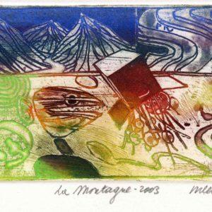 Roger Dewint - La montagne - Gravure
