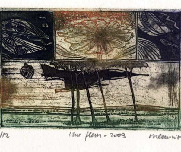 Roger Dewint - Une fleur - Gravure