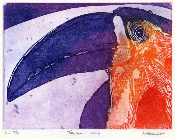 Roger Dewint - Toucan - Gravure
