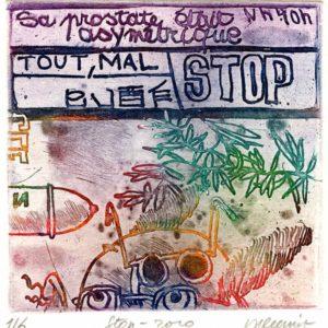 Roger Dewint - Stop - Gravure