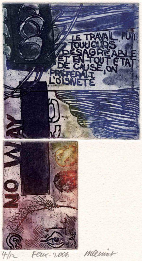 Roger Dewint - Feux - Gravure