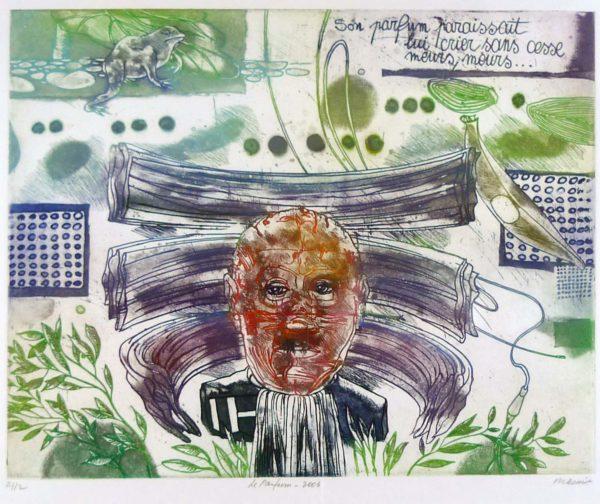 Roger Dewint - Le parfum - Gravure
