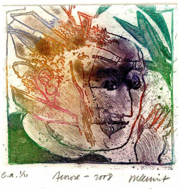 Roger Dewint - Aurore - Voyeur - Gravure