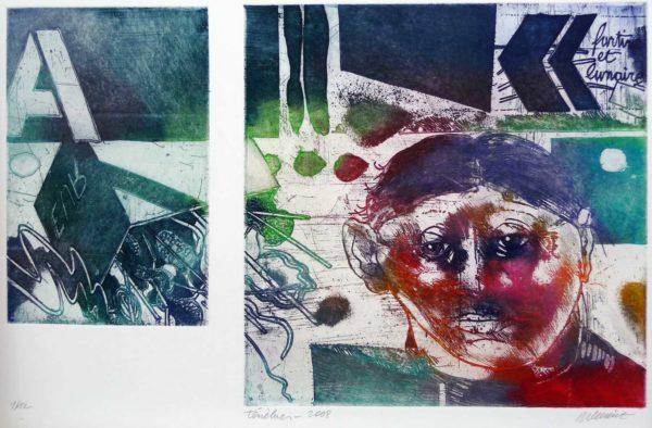 Roger Dewint - Ténèbres - Gravure