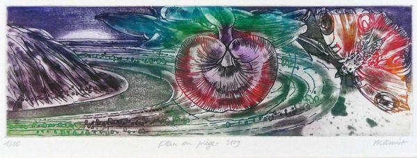Roger Dewint - Tout est brume - Fleur en piège - Gravure