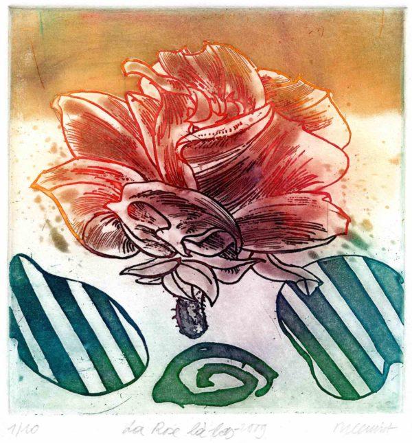 Roger Dewint - Tout est brume - La rose là-bas - Gravure