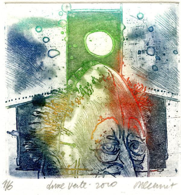 Roger Dewint - Lune verte - Gravure