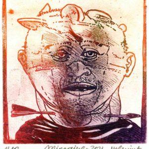 Roger Dewint - Migraine - Gravure