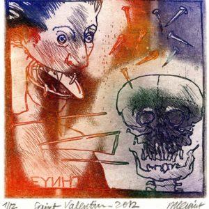Roger Dewint - Saint Valentin - Gravure