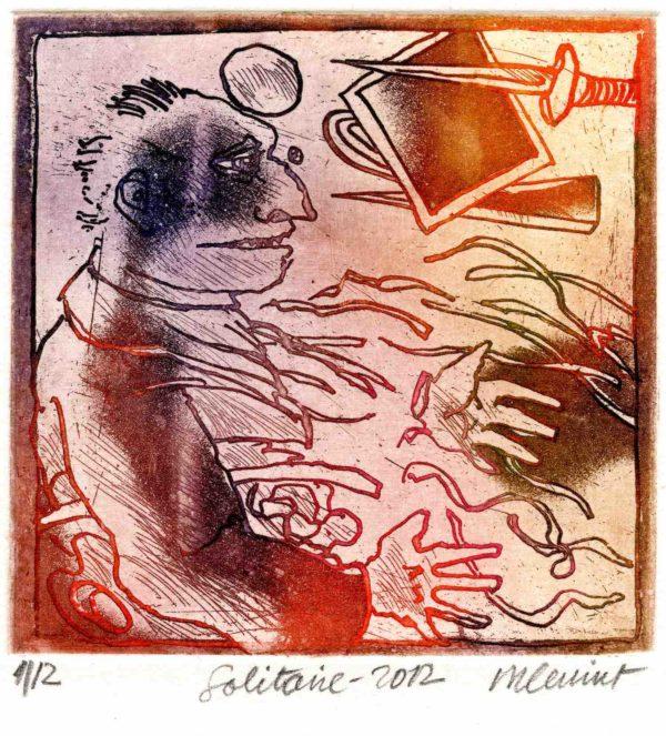 Roger Dewint - Solitaire - Gravure