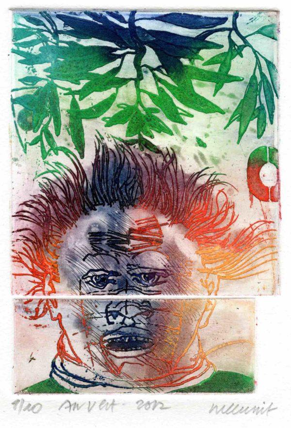 Roger Dewint - Au vert - Gravure