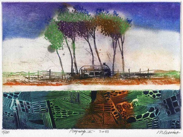 Roger Dewint - Paysage II - Gravure