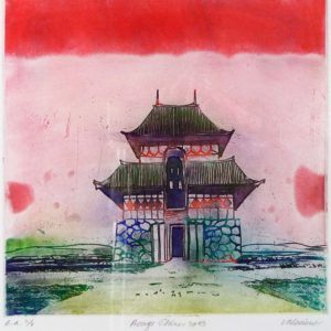 Roger Dewint - Rouge Chine - Gravure