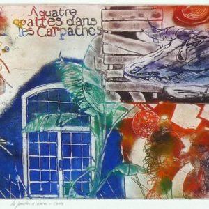 Roger Dewint - Le jardin d'hiver - Gravure