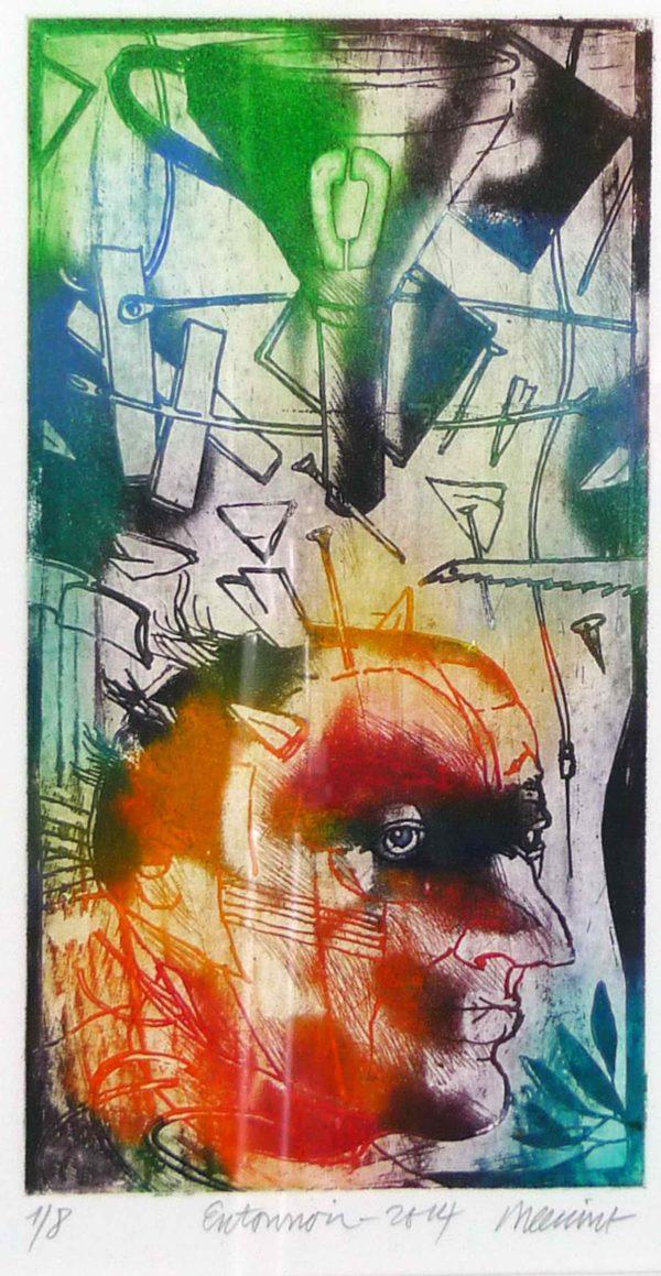 Roger Dewint - Entonnoir - Gravure