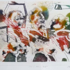 Roger Dewint - Scie à bois - Gravure