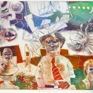 Roger Dewint - La vitre brisée - Gravure