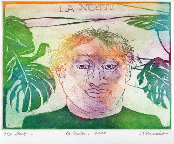 Roger Dewint - La Notte - Gravure
