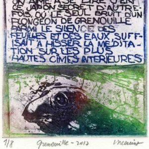Roger Dewint - Grenouille - Gravure