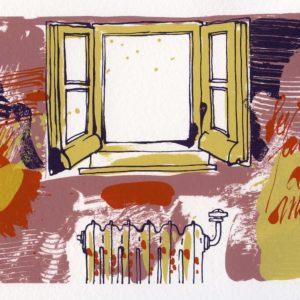 Roger Dewint - Ardent Duchesne - Voyage en poésie 1 - Gravure