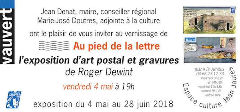 Roger Dewint Invitation Vauvert 2018