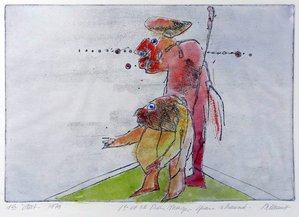 Roger Dewint - Rois mages II - Gravure