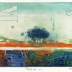 Roger Dewint Paysage III - Gravure