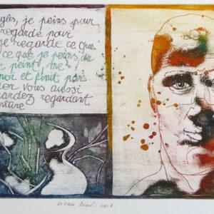 Roger Dewint - Le vase brisé - Gravure