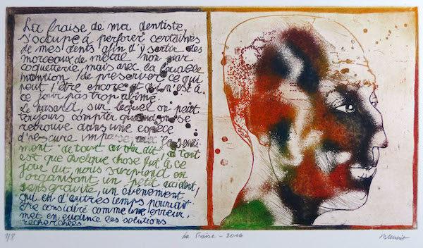 Roger Dewint - La fraise - Gravure