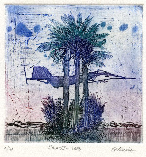 Roger Dewint - Gravure - Oasis I