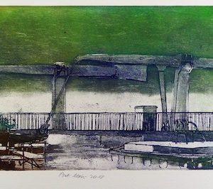 Roger Dewint - Gravure - Pont Levis