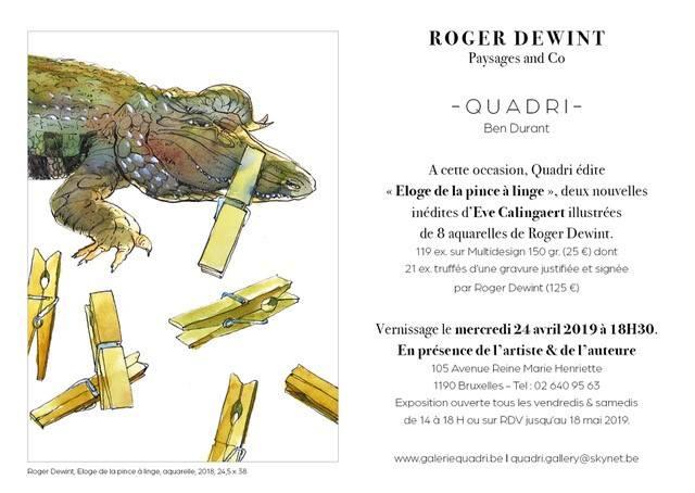 Roger Dewint - Exposition chez Quadri
