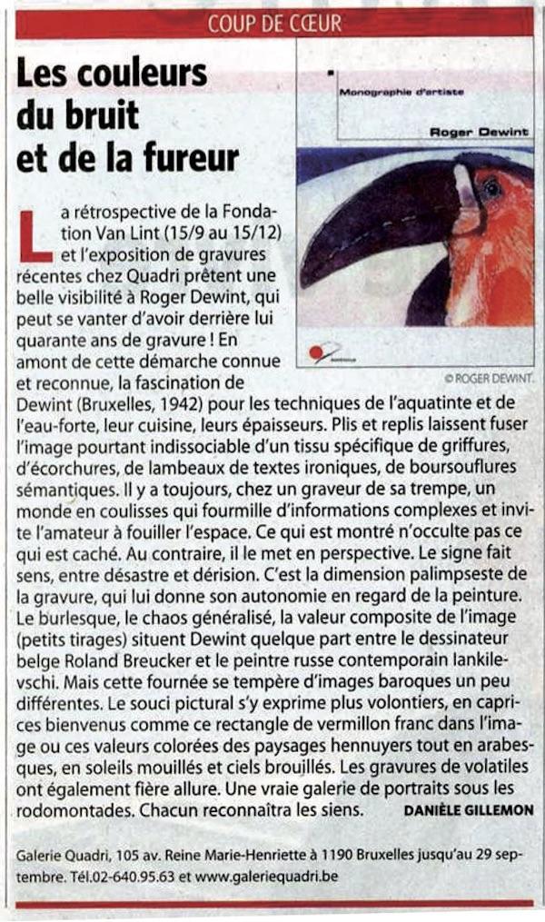 Roger Dewint - Daniele Gillemon Le Soir